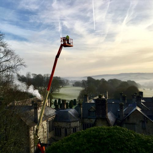 Lanhydrock Restoration by Old Light Building Conservation