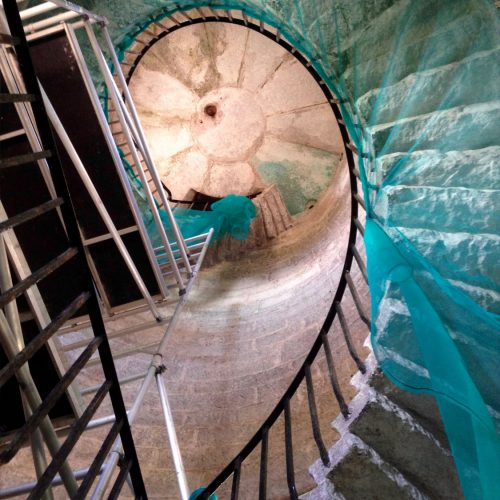 Lundy Lighthouse Stairs restored by Old Light Building Conservation