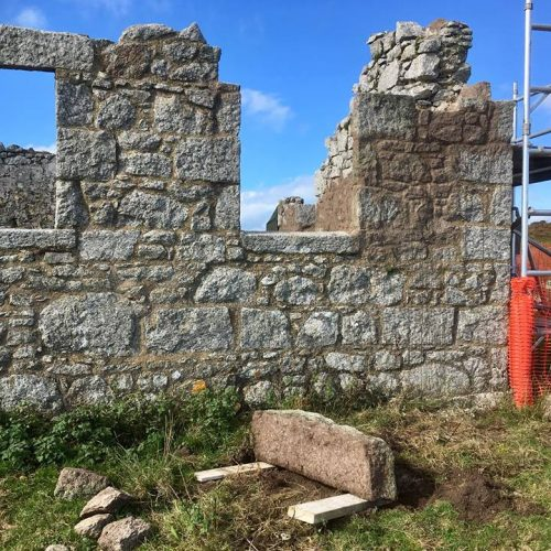 Monuments on Lundy Island being restored by Old Light Building Conservation