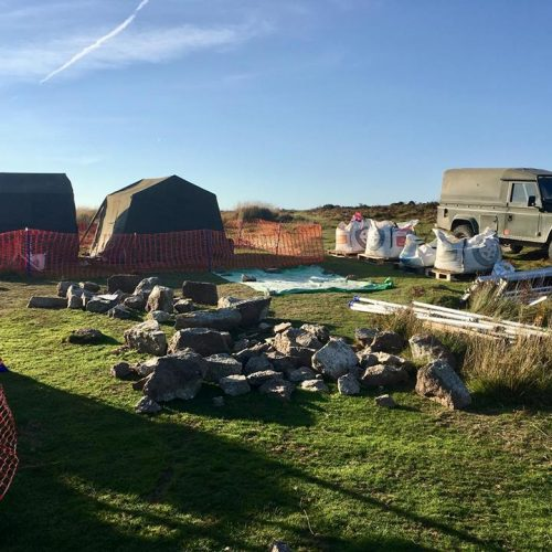 Camp for Lundy Island Restoration by Old Light Building Conservation
